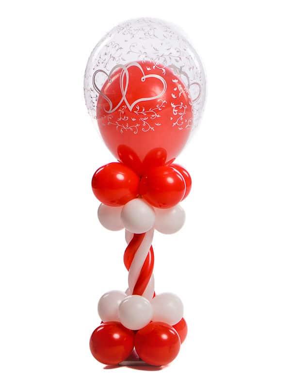 Ballonpilaar Mini deluxe bruiloft topballon 30 cm met ballon erin thema entwined hearts B2B Fotografie 18 01 18 13 26 40 600x800 - Mini Ballonpilaar