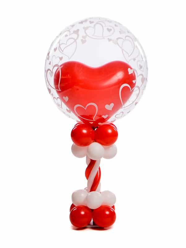Ballonpilaar Mini deluxe bruiloft topballon bubble met hartballon erin B2B Fotografie 18 01 18 13 28 38 600x800 - Mini Ballonpilaar