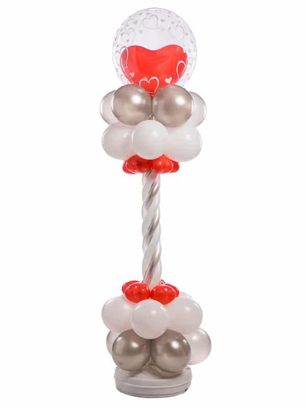 Ballonpilaar deluxe bruiloft gevlochten bubble met hart erin topballon B2B Fotografie 18 01 18 12 55 18 600x800 - Deluxe Ballonpilaar