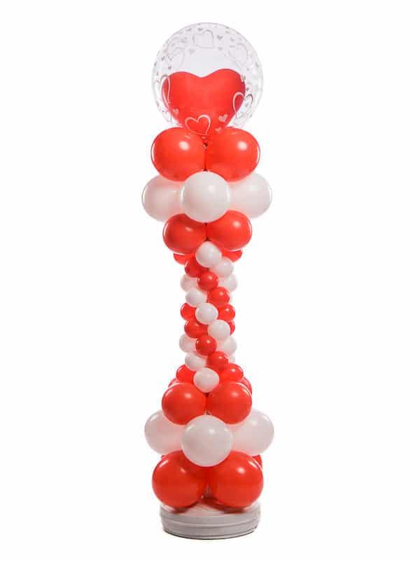 Ballonpilaar deluxe bruiloft kleine ronde ballonnen bubble topballon met hart erin B2B Fotografie 18 01 18 13 14 12 600x800 - Deluxe Ballonpilaar