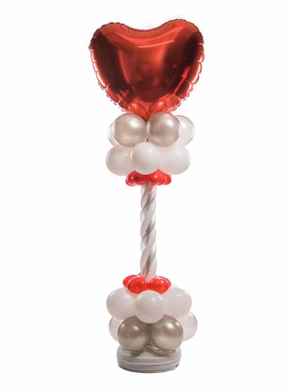 ballonpilaar deluxe bruiloft gevlochten topballon folie 90 cm hart B2B Fotografie 18 01 18 13 08 12 600x800 - Deluxe Ballonpilaar