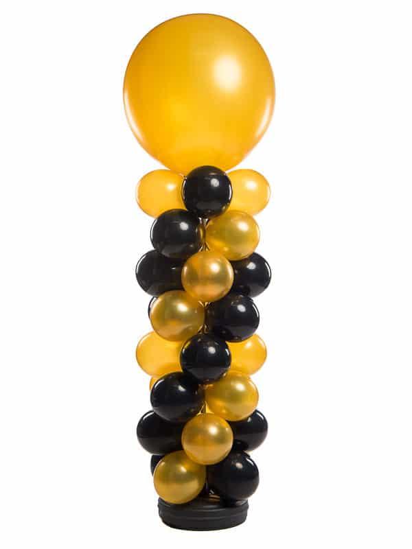 webshop ballonpilaar 160 cm plus topballon 90 cm totaal 250 cm patroon slingerend 600x800 - Standaard Ballonpilaar
