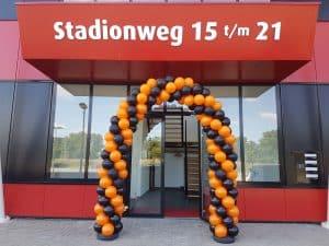 slingerend patroon ballonboog Sport Performance AZ stadion Alkmaar De Decoratieballon 300x225 - Patroon ballonboog variaties Alkmaar