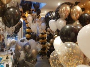 ABNAmro eindejaarsbijeenkomst Arena Amsterdam De Decoratieballon Alkmaar  300x225 - Eindejaarsfeest en Nieuwjaarsreceptie glamour ballondecoratie