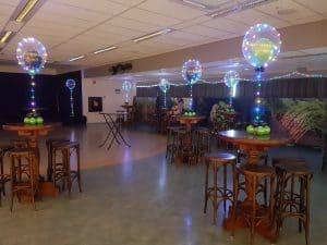 bejo tantiemefeest licht ballonnen 300x225 - Eindejaarsfeest en Nieuwjaarsreceptie glamour ballondecoratie