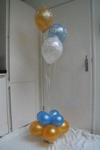 50jaarheliumballontrosDeDecoratieballonAlkmaar 200x300 - Van bruiloft naar 50 jarig huwelijksfeest