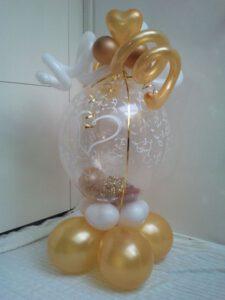 cadeauballon goud 50 jaar 225x300 - Van bruiloft naar 50 jarig huwelijksfeest
