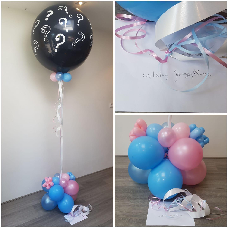 Ballon van de Blije boodschap jongen meisje gender reveal party geslacht bekend maken - Gender Reveal Party ballondecoraties