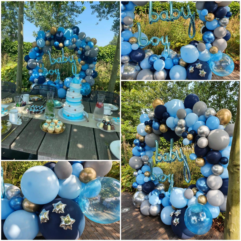 ballonboog cirkel ballondecoratie babyshower 1 - Gender Reveal Party ballondecoraties