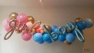 geslacht bekend maken met reveal gender party ballonslinger organic 300x169 - Gender Reveal Party ballondecoraties